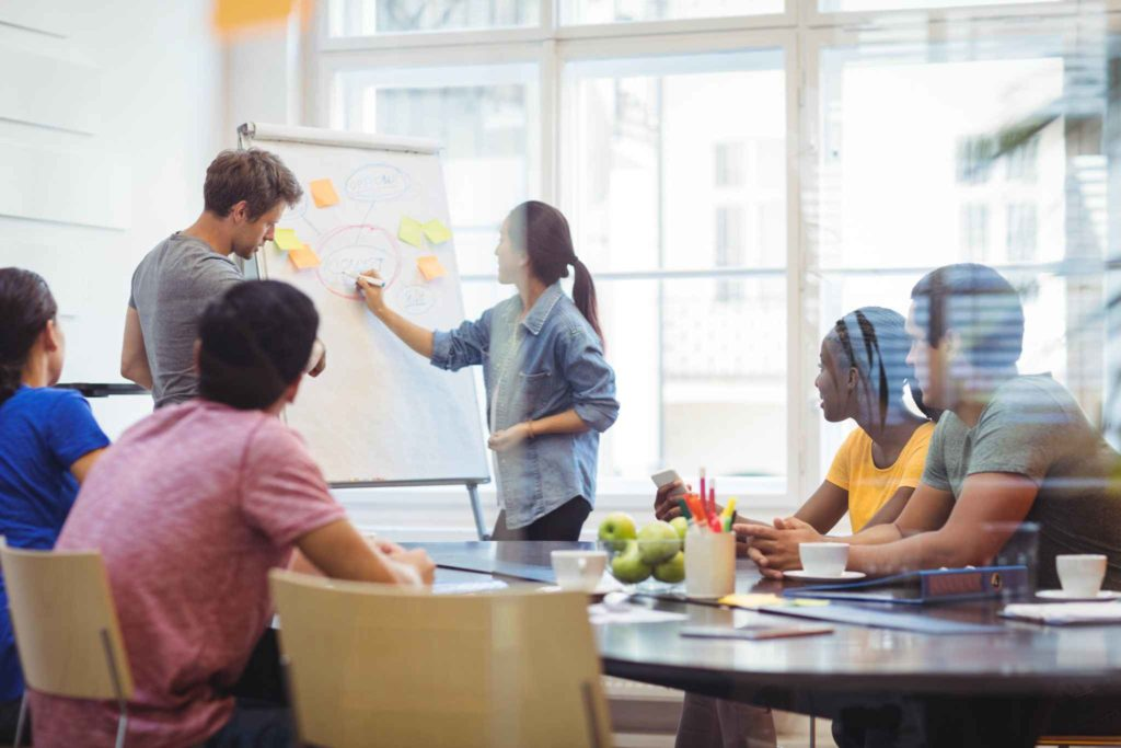 Business executives in agile transformation